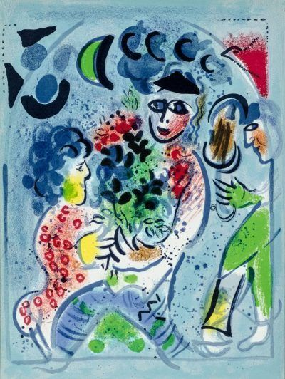 Marc Chagall lithograph FRONTISPIECE from Chagall Lithographs III
