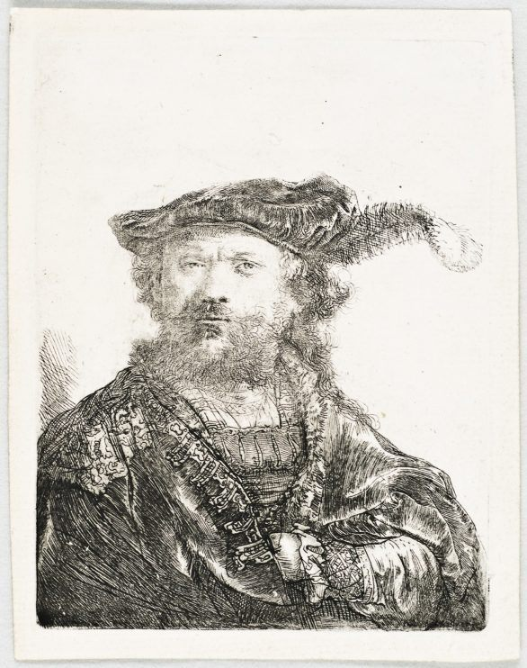 SELF-PORTRAIT IN A VELVET CAP WITH PLUME