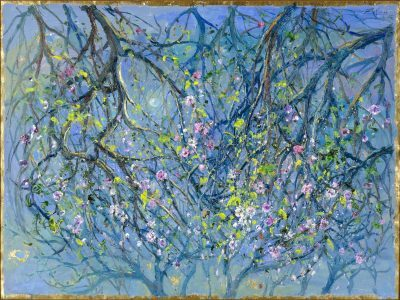 Moonlight in Blossoming Almond Grove