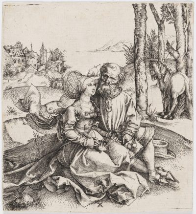 "Albrecht Dürer THE ILL-ASSORTED COUPLE (or ""The Promise of Love"")"
