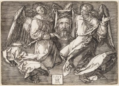 SUDARIUM OF SAINT VERONICA SUPPORTED BY TWO ANGELS