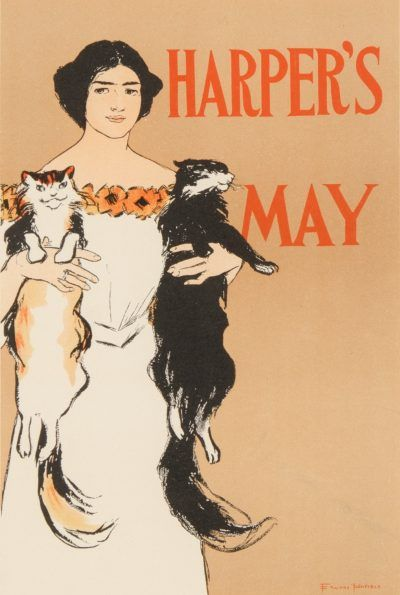 Edward Penfield lithograph HARPER'S MAY