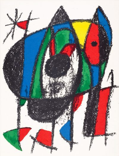 Joan Miró lithograph UNTITLED from Joan Miró Lithographes II
