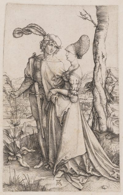Albrecht Dürer YOUNG COUPLE THREATENED BY DEATH (THE PROMENADE)