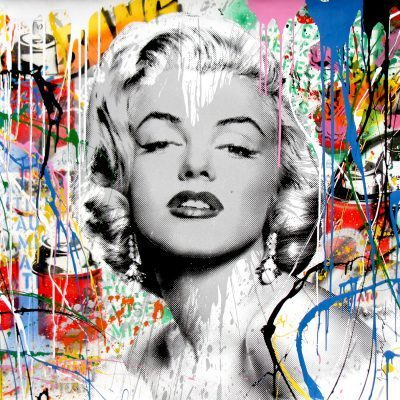Mr. Brainwash mixed media painting My Heart Is Yours
