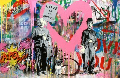 Mr. Brainwash canvas Juxtapose
