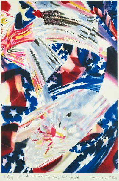 James Rosenquist lithograph The Stars and Stripes at the Speed of Light