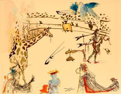 Salvador Dalí tapestry La Girafe en Feu