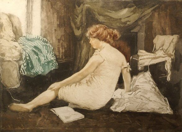 Robbe Aquatint: Le Deshabille (Undressing)