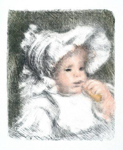 Renoir Lithograph: L'ENFANT AU BISCUIT (JEAN RENOIR)