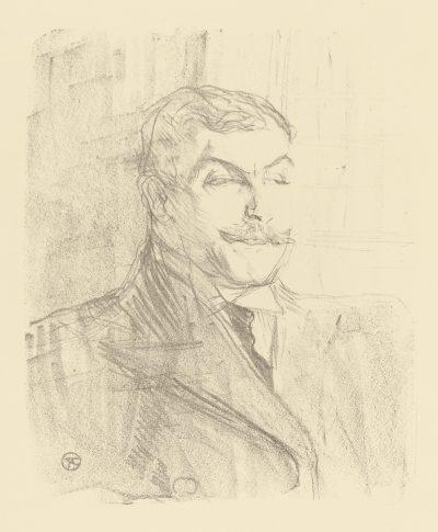 Toulouse-Lautrec Lithograph: LUCIEN GUITRY