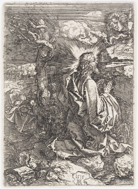 Dürer Etching: THE AGONY IN THE GARDEN