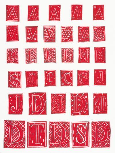 Matisse Linocut: 33 LETTRINES EN ROUGE