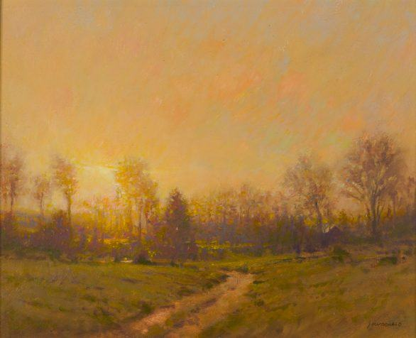 John MacDonald Painting Autumn Haze Sunset