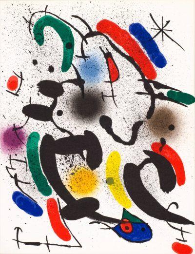 Joan Miró lithograph UNTITLEDfromJoan Miró Lithographe I